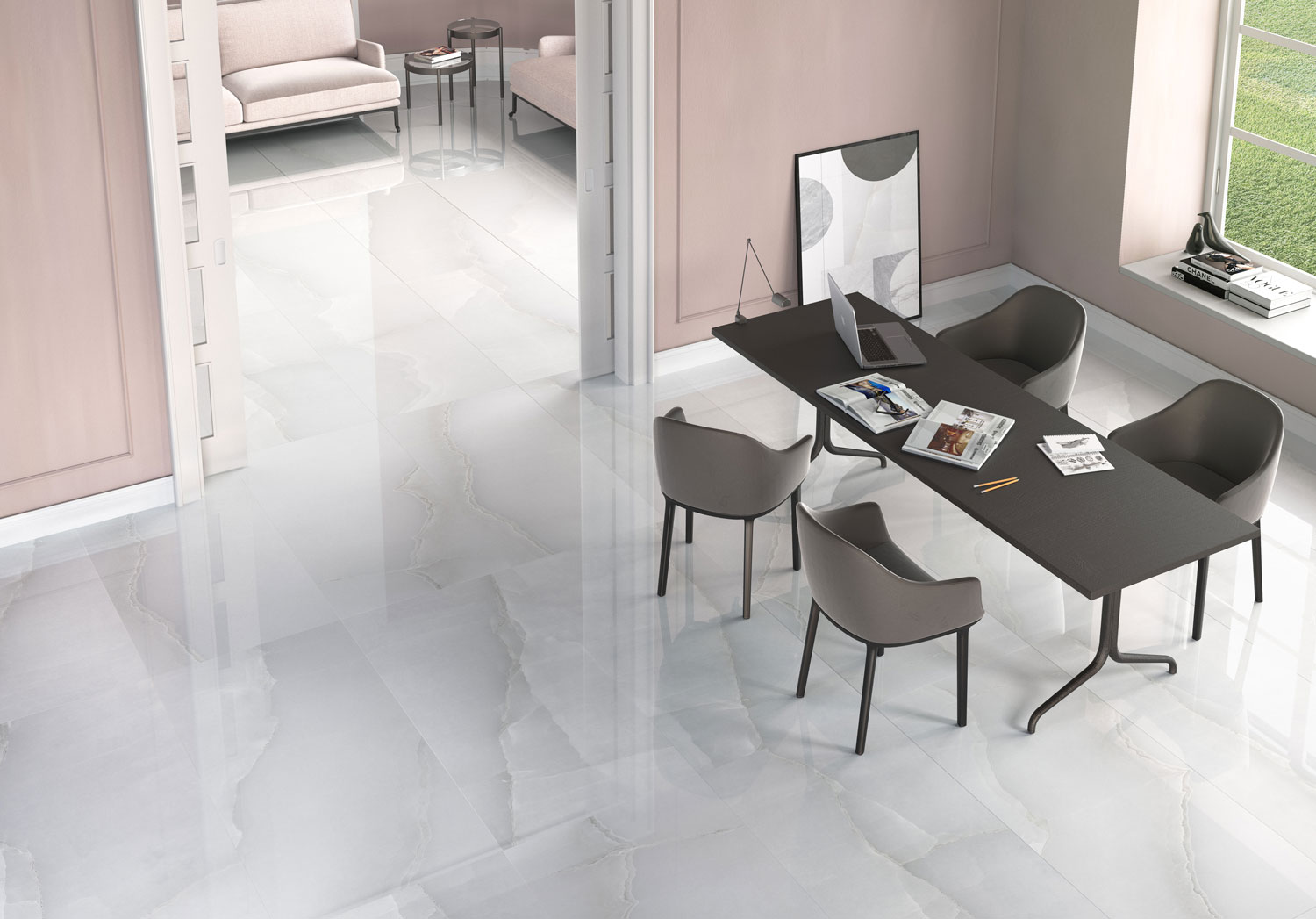 Fossil Stone - ONIX-PEARL Porcelain