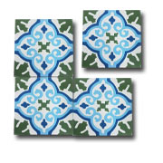 Fossil Stone - Encuatic Verde Azul Tiles