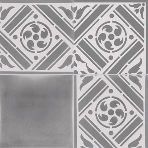Fossil Stone - Encaustics Floor Tiles Close Up