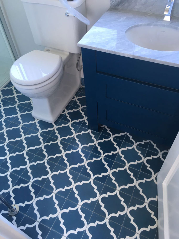 Fossil Stone - Encaustics Bathroom Floor Tiles