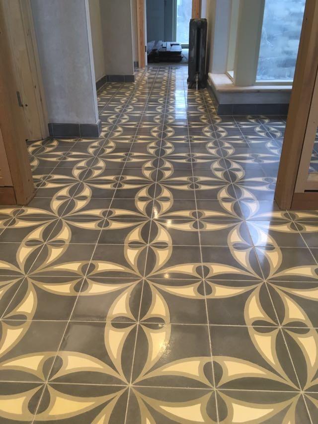 Fossil Stone Dublin Ireland - Encaustics Floor Tiles Hallway