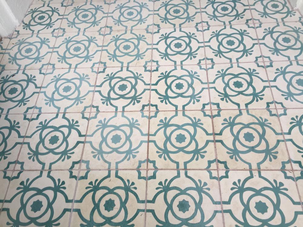 Fossil Stone Dublin Ireland - Encaustics Floor Tiles Close Up