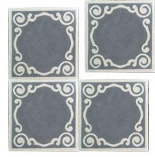 Fossil Stone Dublin Ireland - Encaustics Floor Tiles Isolated
