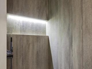 Fossil Stone Dublin - oak grey shower wall slabs scratched