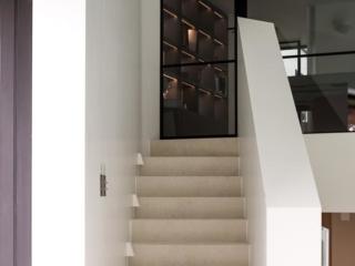 Fossil Stone Dublin - velvet limestone stairs and hallway flagstone